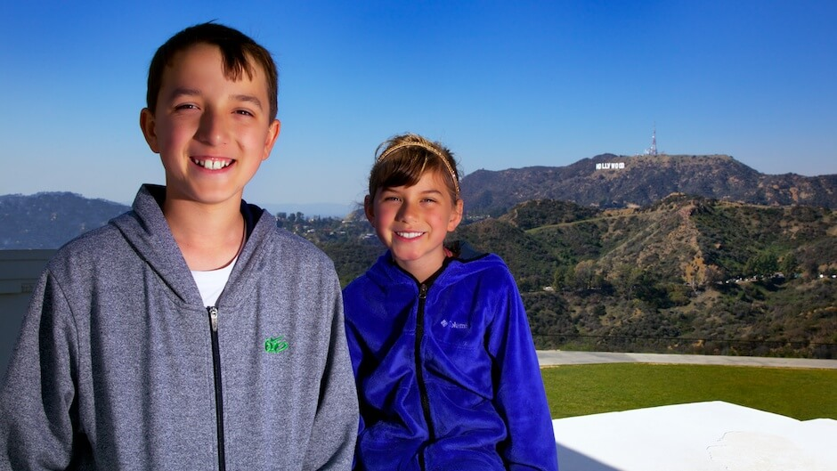 Nathan and Devyn at the Griffith Observatory. © Mike Wong 2013