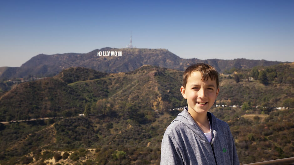 Nathan at Griffith Observatory. © Mike Wong