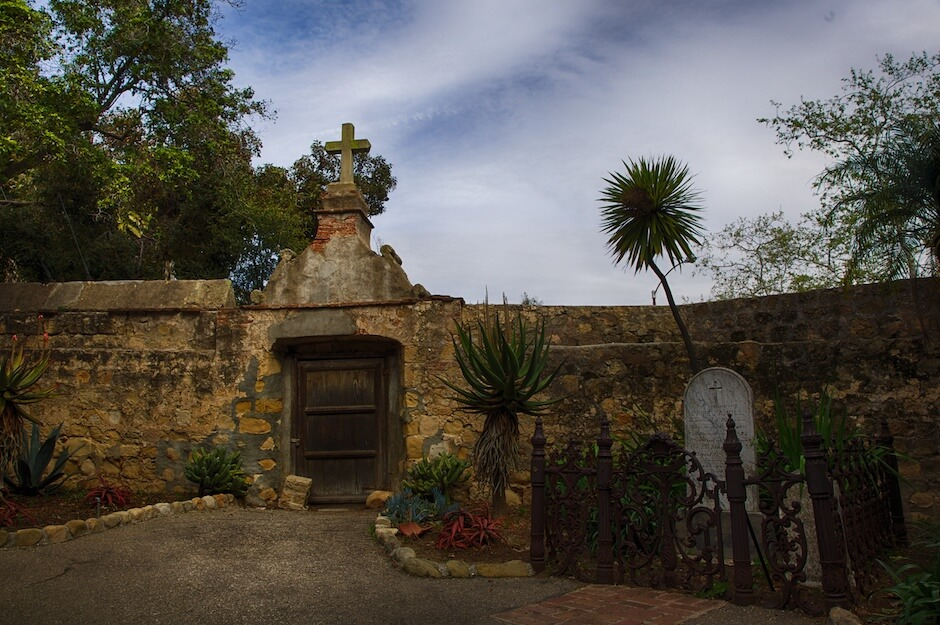 Cemetery at the Old Mission of Santa Barbara. © Mike Wong