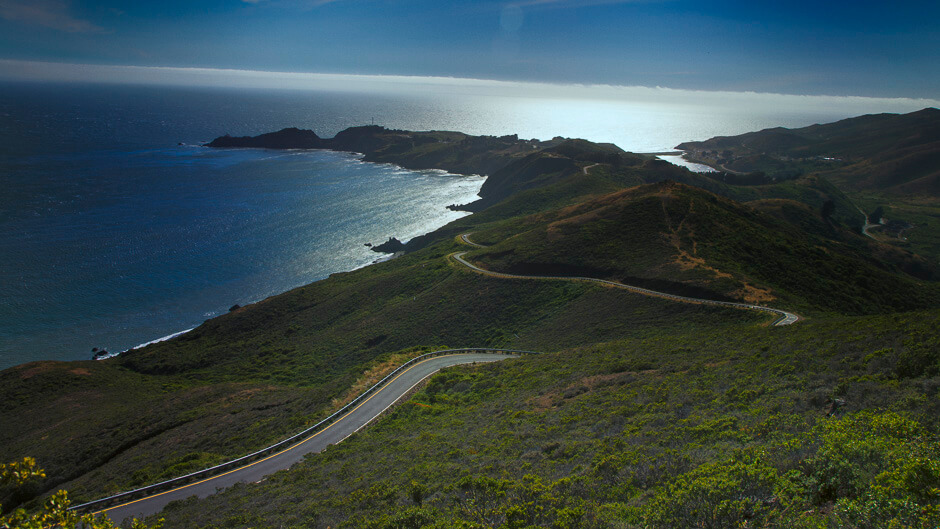 View from the backside of the Marin Headlands.