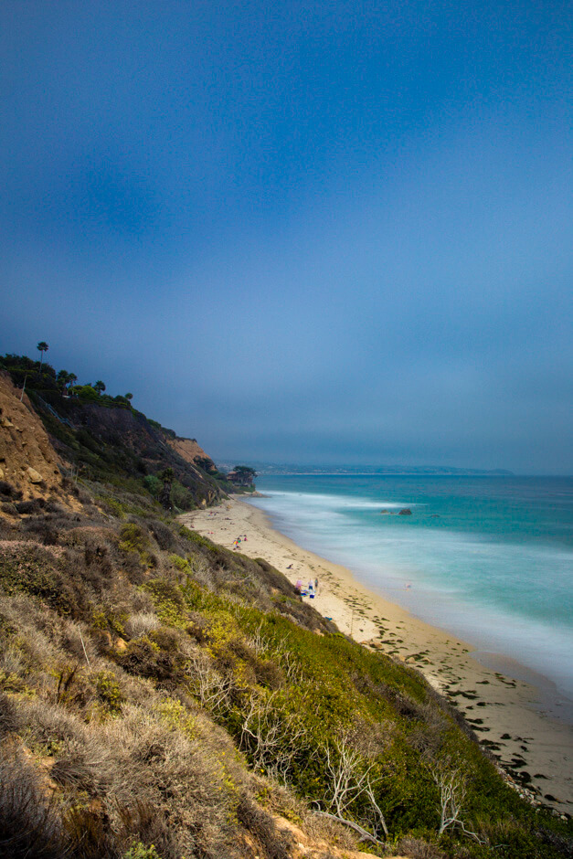 A view of La Piedra beach in Malibu.
