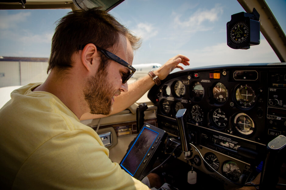 Brad going through the pre-flight sequence.