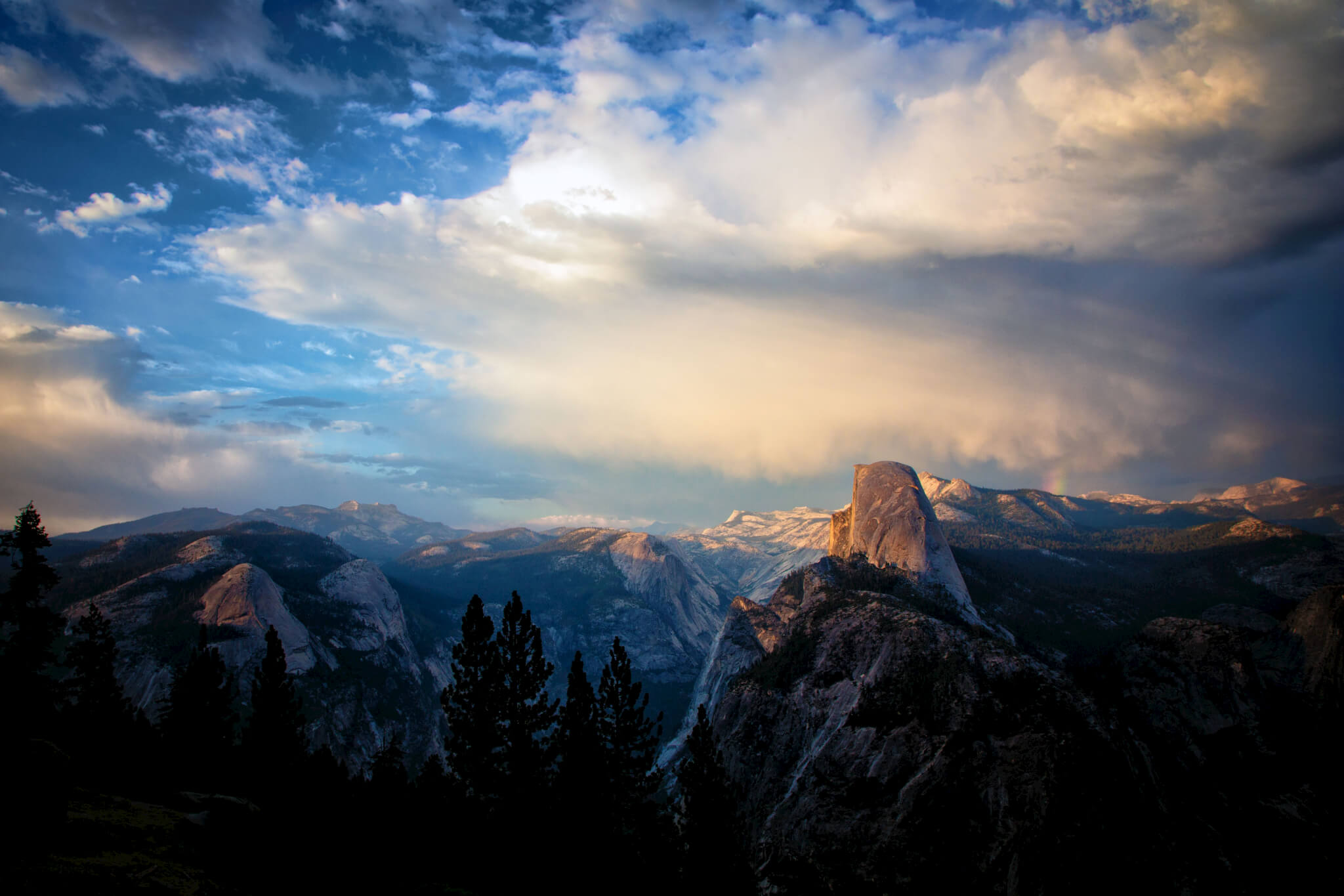 Yosemite's Half Dome from Washburn Point